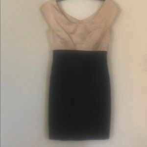 Black dress  with Champagne bodice